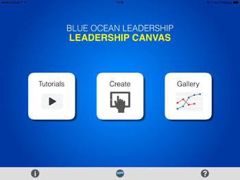 blue ocean leadership canvas app tutorial guide