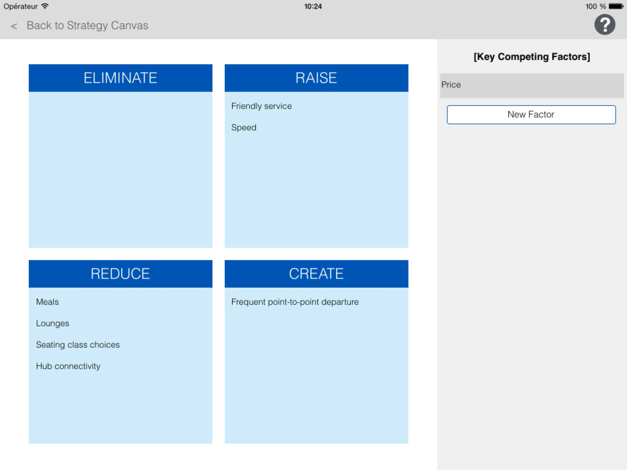 apple strategy canvas The strategy canvas also provides one of the simplest ways to sell your blue ocean/transformational strategy to staff and stakeholders  apple (2) blackberry (1 .
