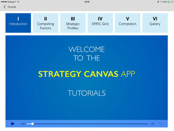 Use Strategy Canvas tutorials to familiarize yourself with Blue Ocean concepts